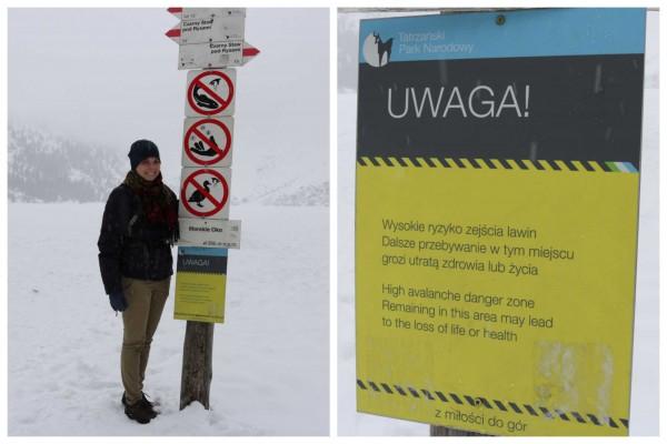 peligro avalancha morskie oko zakopane polonia
