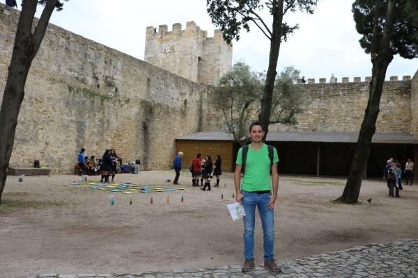 interior castillo san jorge lisboa portugal