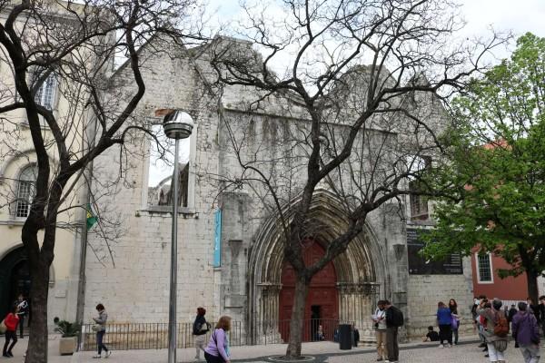 convento carmo exterior lisboa portugal