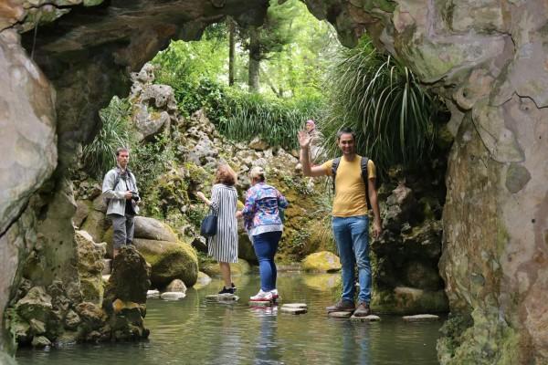 estanque quinta de la regaleira sintra portugal
