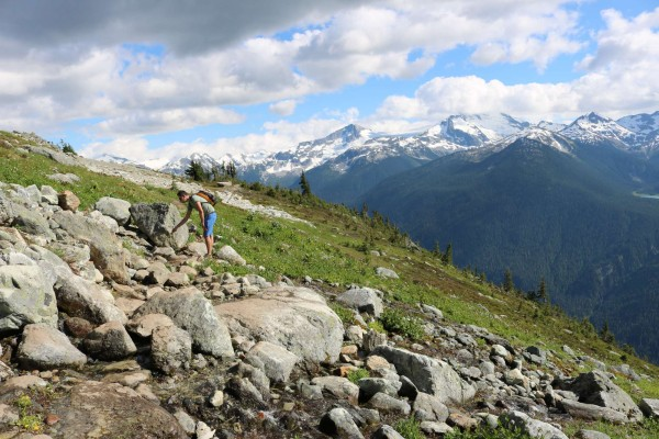 como son los caminos de montaña en verano en whistler canada