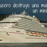 Crucero Carnival Vista destruye marina en Italia con mini tsunami!