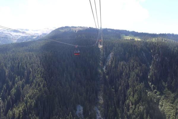 recorrido en peak 2 peak cabina whistler canada