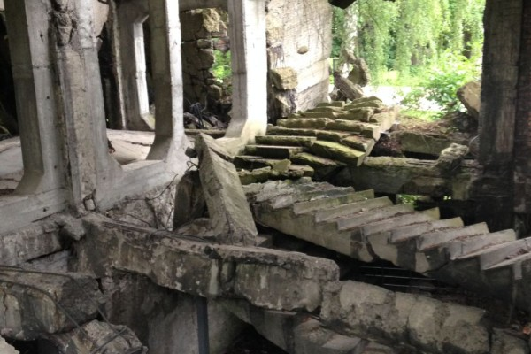 ruinas en westerplatte  gdansk polonia