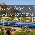 Boletos vs pases de tren para Europa! ¿Dónde comprarlos?