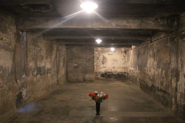 camara de gas en campo de concentracion auschwitz en polonia
