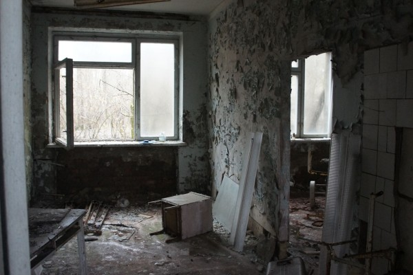 edificios en ruinas en chernobil ucrania