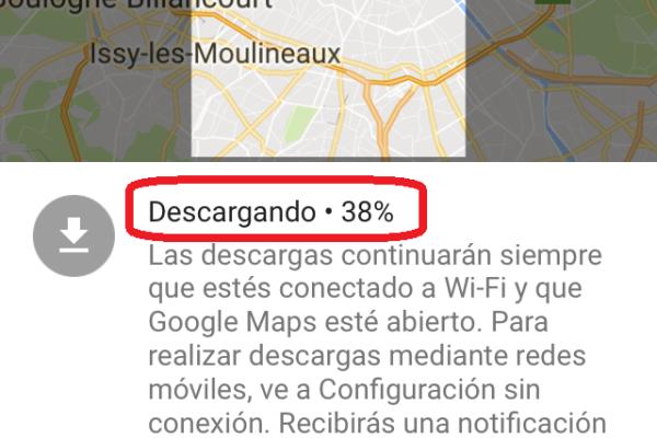 iphone google maps sin internet