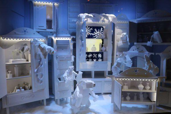 galerias lafayette diciembre navidad en paris francia